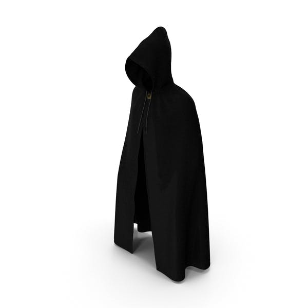Black Cloak or Cape with Hood