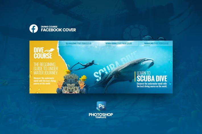 Thumbnail for Dive Course Facebook Cover Template