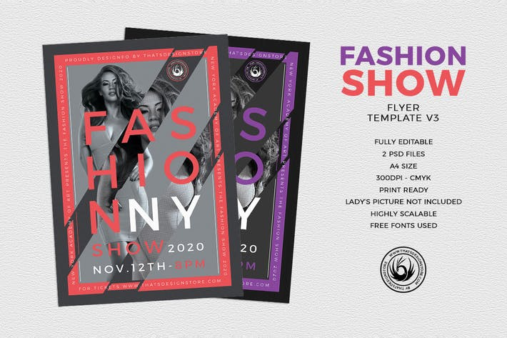 Thumbnail for Fashion Show Flyer Template V3