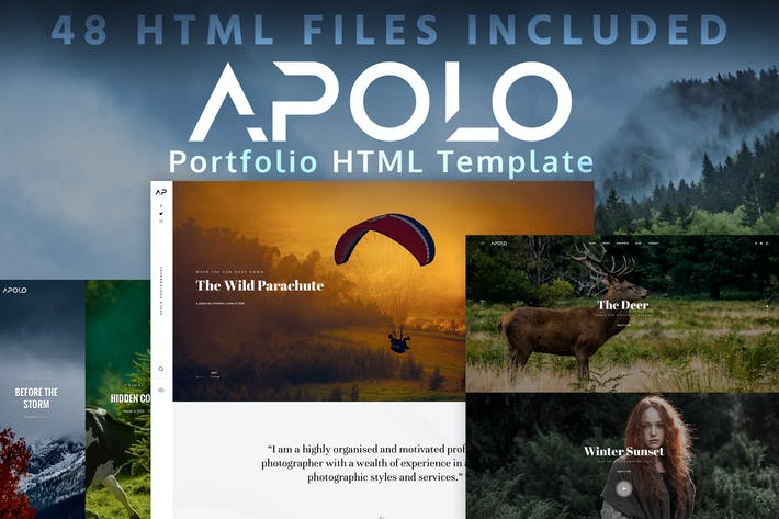 Thumbnail for APOLO - Portfolio HTML Template