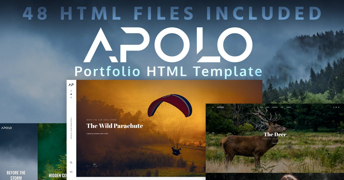 Download APOLO - Portfolio HTML Template by Monkeysan