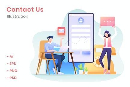 Contact Us Illustration