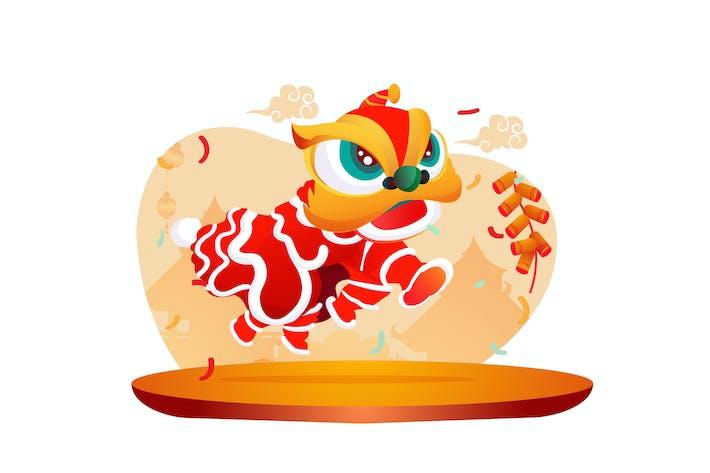 Chinesische Neujahrs-Illustration