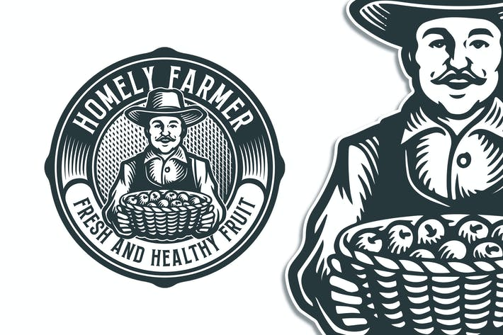 Thumbnail for Homely Farmer Vintage Logo Template
