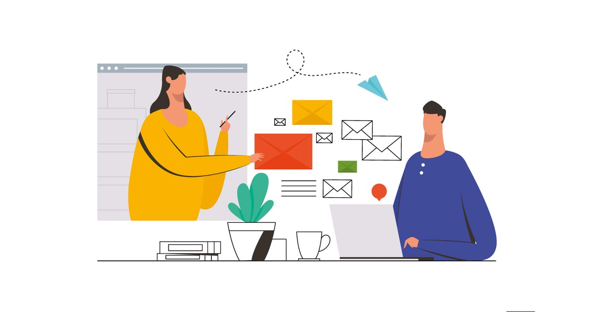 Download Email Marketing Illustration by visuelcolonie