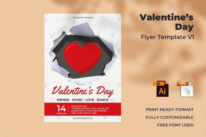 Thumbnail for Valentine's Day Flyer Design Vol. 01