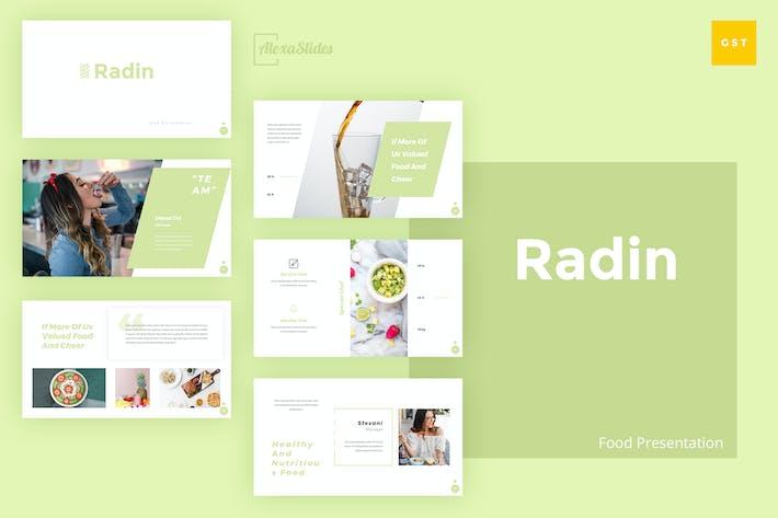 Thumbnail for Radin - Food Google Slides Template