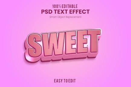 Sweet - 3D Text Effect PSD