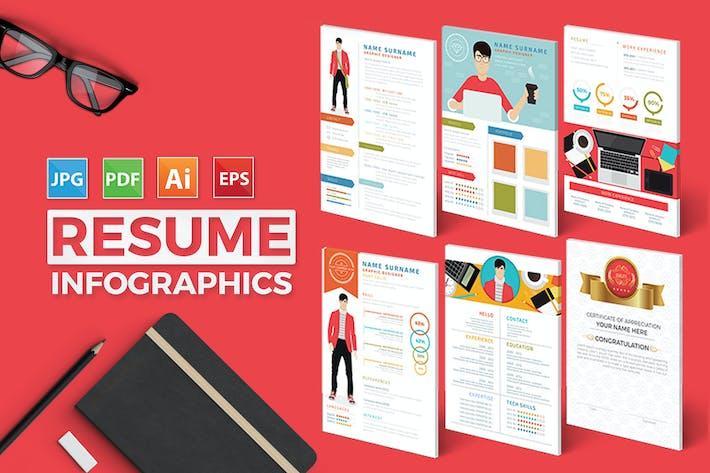 thumbnail for resume infographics design