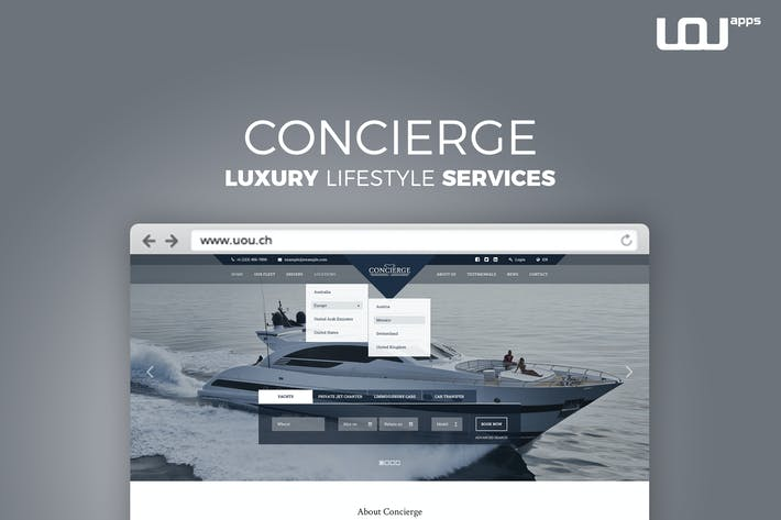 Thumbnail for Concierge - Luxury Lifestyle Services HTML