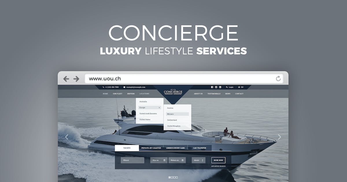 Download Concierge - Luxury Lifestyle Services HTML by DirectoryThemes