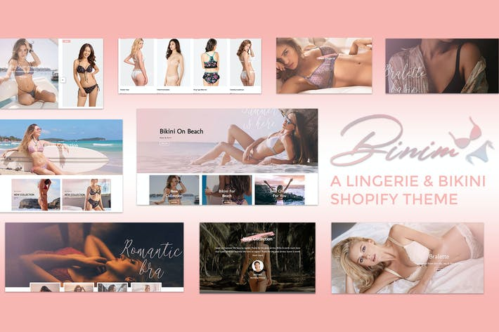 Cover Image For Binim - Lingerie & Bikini Responsive Shopify
