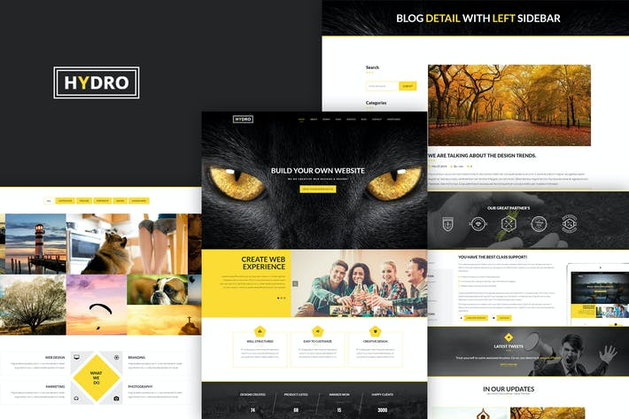 Thumbnail for HYDRO - Multipurpose one page HTML5 Template