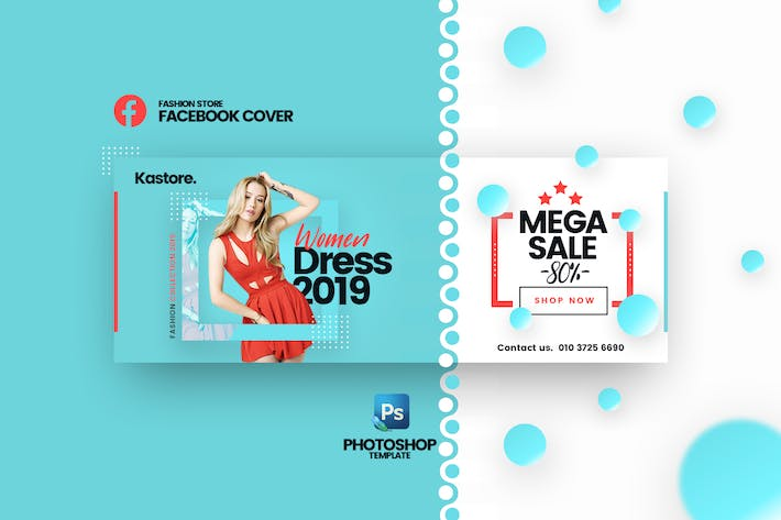 Thumbnail for Kastore - Fashion Store Facebook Cover template