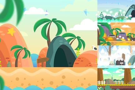 Side-scroller Game Background Designs