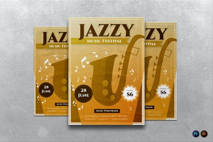 Jazzy Music Festival Flyer / Poster