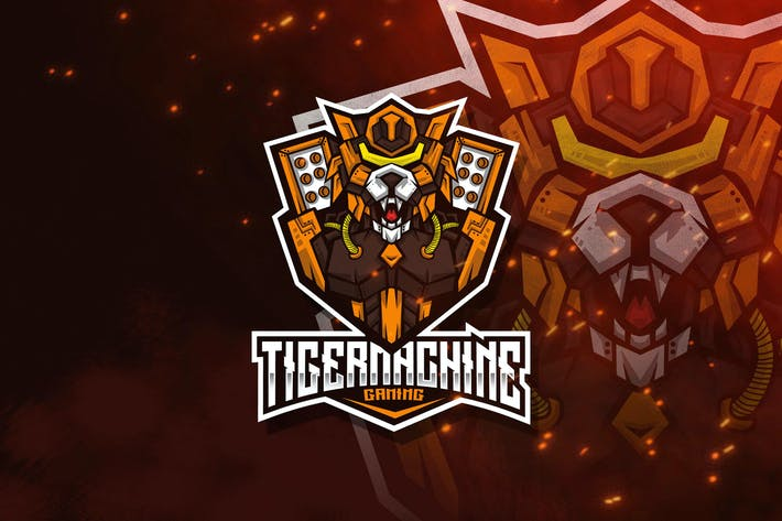 Thumbnail for Tiger Machine Esport Logo Template