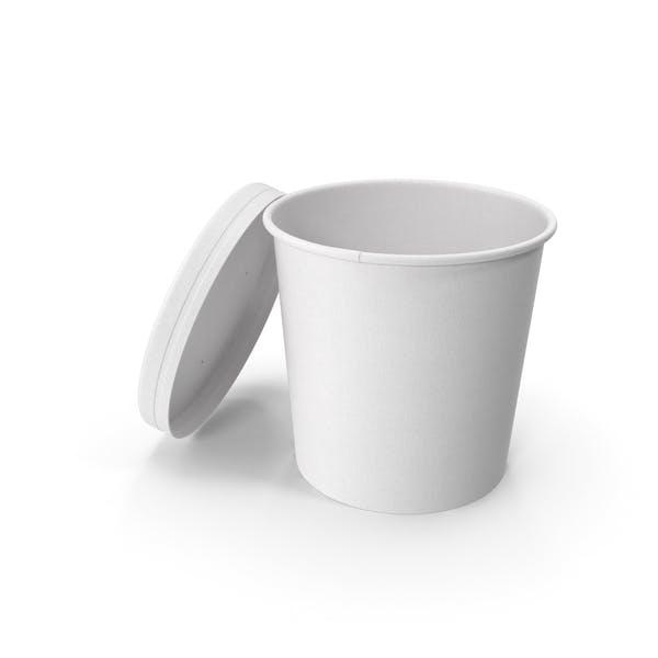 Белая бумага Food Cup с вентилируемой крышкой одноразовое ведро для мороженого 26 унций 750 мл Open