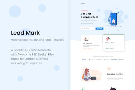 LeadMark - Multi Purpose PSD Landing Page