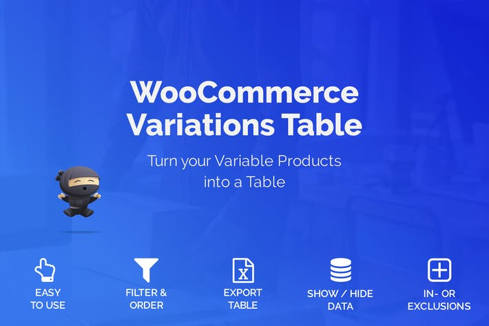 Thumbnail for WooCommerce Variations Table