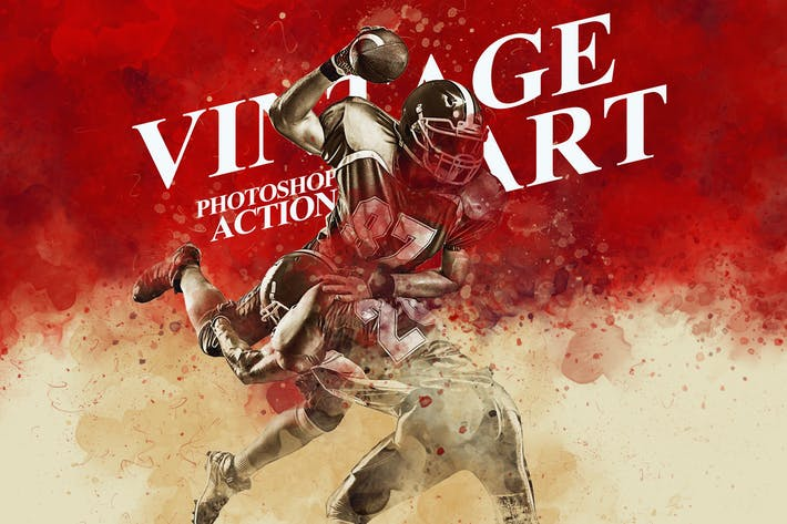 Thumbnail for Vintage Art Photoshop Action