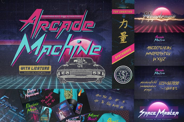 Thumbnail for Arcade Machine 80's Retro Font