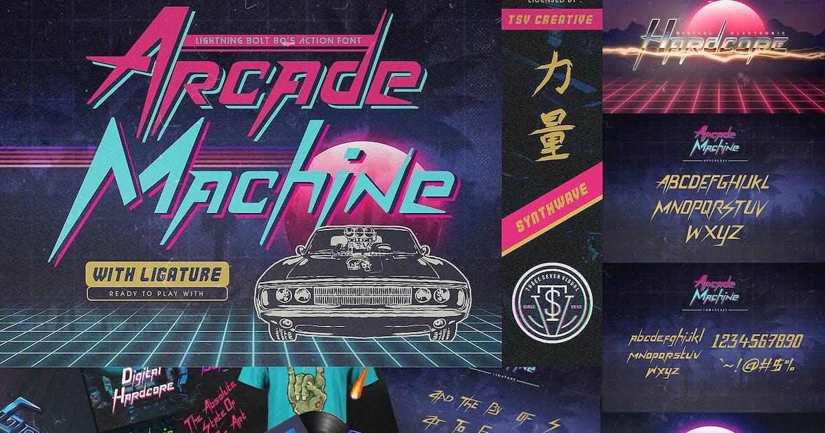 Download Arcade Machine 80's Retro Font by TSVcreative