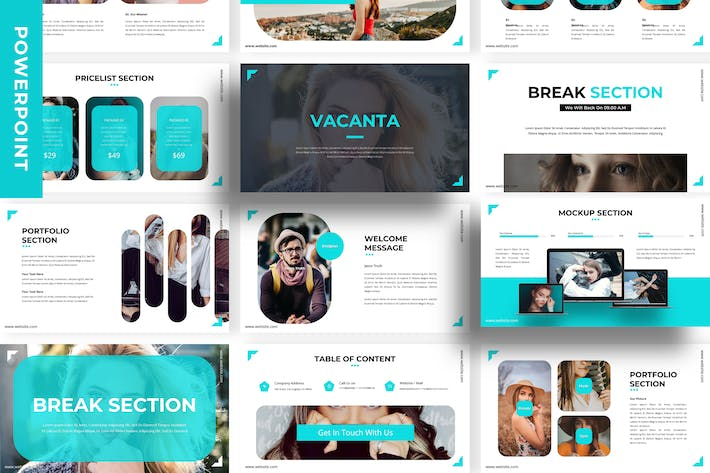 Thumbnail for Vacanta - Business Powerpoint Template