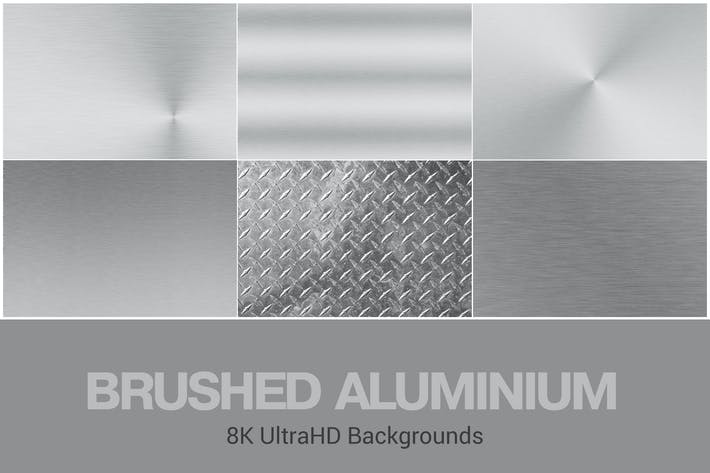 Thumbnail for 8K UltraHD Brushed Aluminium Backgrounds Set