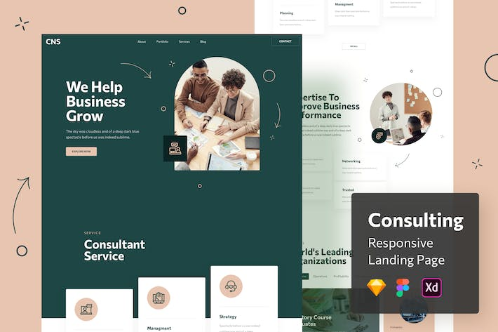 Thumbnail for Consulting Responsive Landing Page