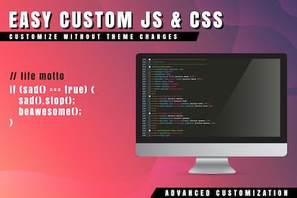 Easy personalizado JS y CSS para WordPress