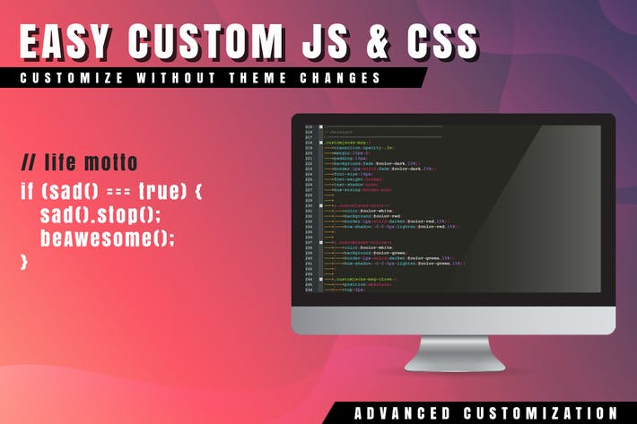 Thumbnail for Easy Custom JS and CSS for WordPress