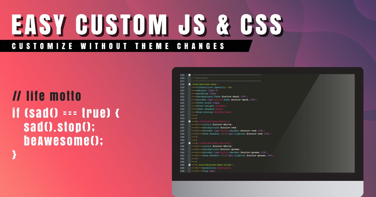 Download Easy Custom JS and CSS for WordPress by Avirtum