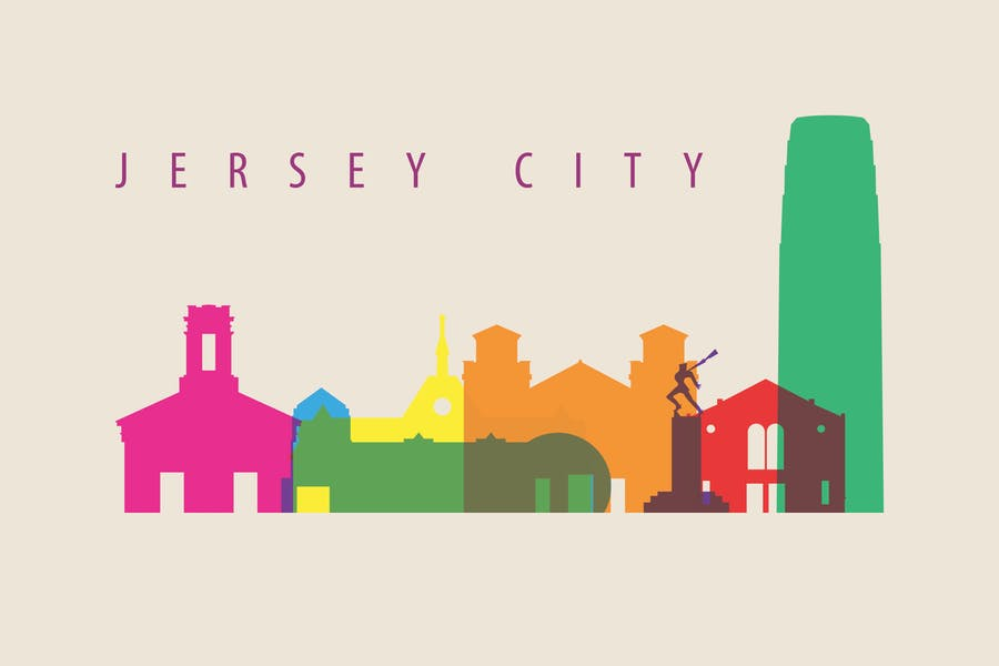 Jersey, Skyline, USA