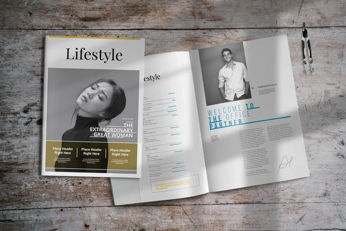 Thumbnail for Lifestyle | InDesign Magazine Template