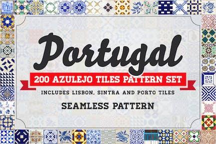 200 Azulejos Portugal sin costuras