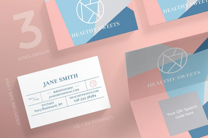 Thumbnail for Handcrafted Sweets Business Card Template
