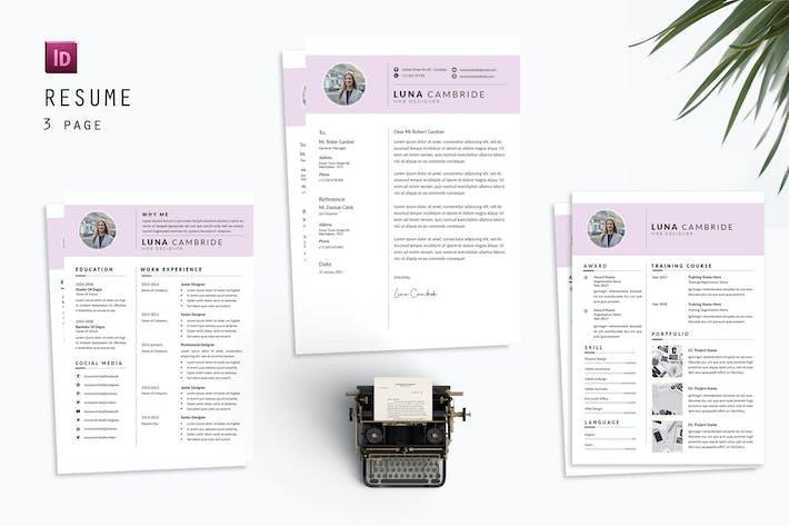 Luna Web Resume Designer