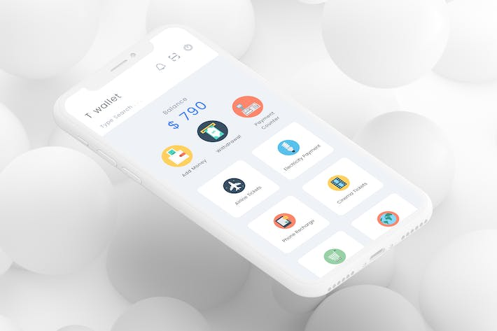 Thumbnail for T wallet 1 Mobile Ui - T