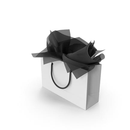 Bolsa de la compra con papel de regalo negro