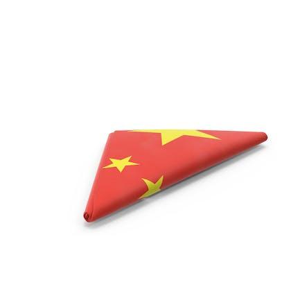 Folded Chinese Flag