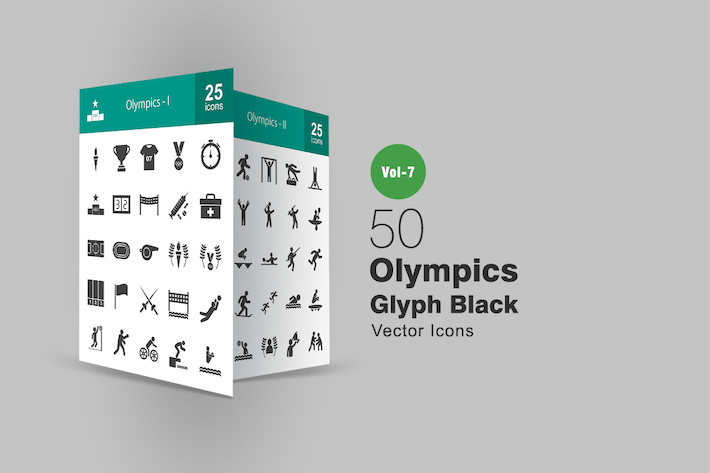 Thumbnail for 50 Olympics Glyph Icons