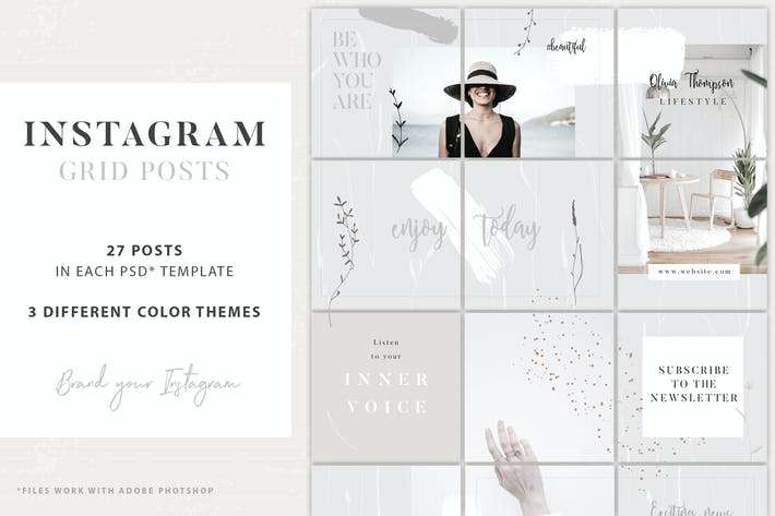 Thumbnail for Instagram Grid Posts - 3 Themes