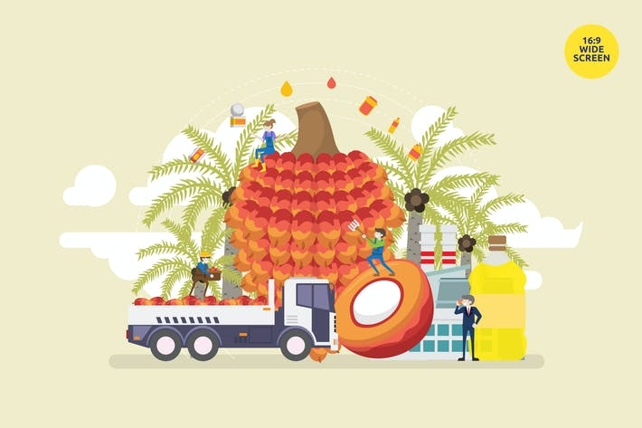Thumbnail for Palm Oil Industry Vector Concept 2