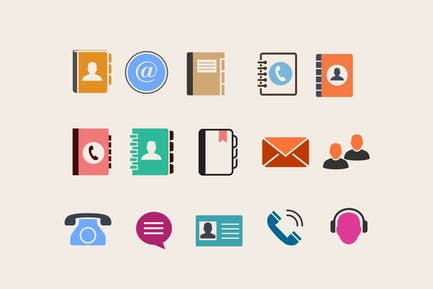 15 Address Book Contact Icons