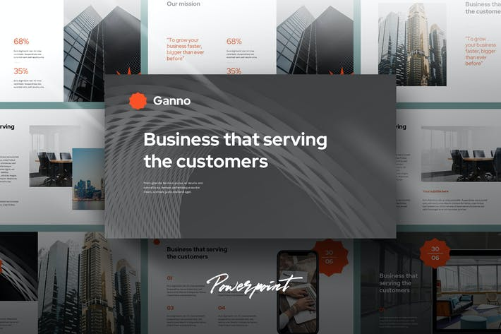 Cover Image For Ganno - Agency Portfolio Powerpoint Template