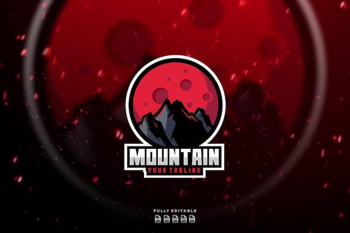 Thumbnail for Mountain on Planet Mascot Logo