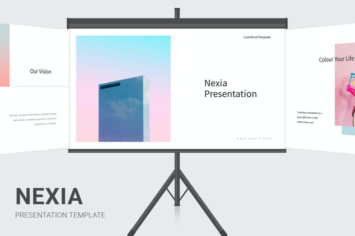 Thumbnail for Nexia - Pastel Color Google Slides