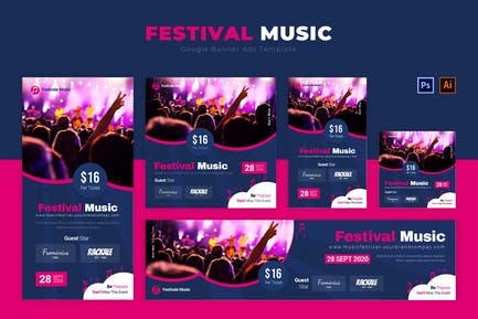 Festival Music   Google Banners Ads