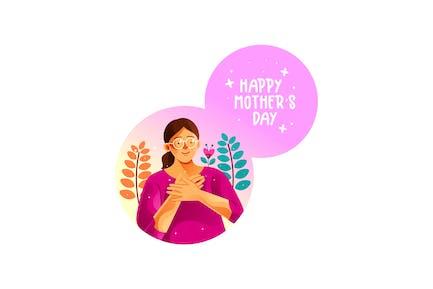 Glücklicher Muttertag Illustration